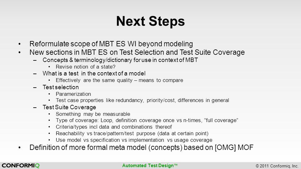 Automated Test Design © 2011 Conformiq, Inc. META MODELS IN ETSI [LANGUAGE] STANDARDIZATION?