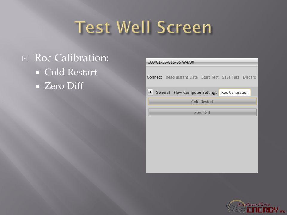 Roc Calibration: Cold Restart Zero Diff