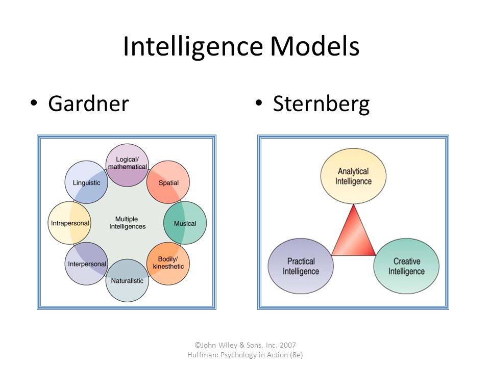 ©John Wiley & Sons, Inc. 2007 Huffman: Psychology in Action (8e) Intelligence Models Gardner Sternberg
