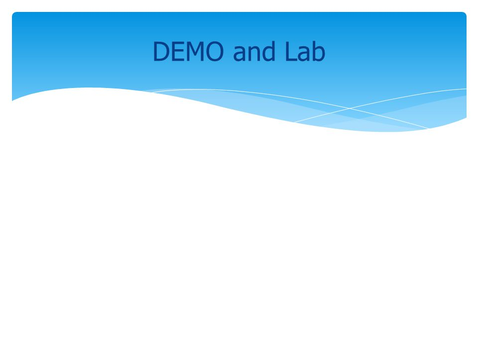 DEMO and Lab