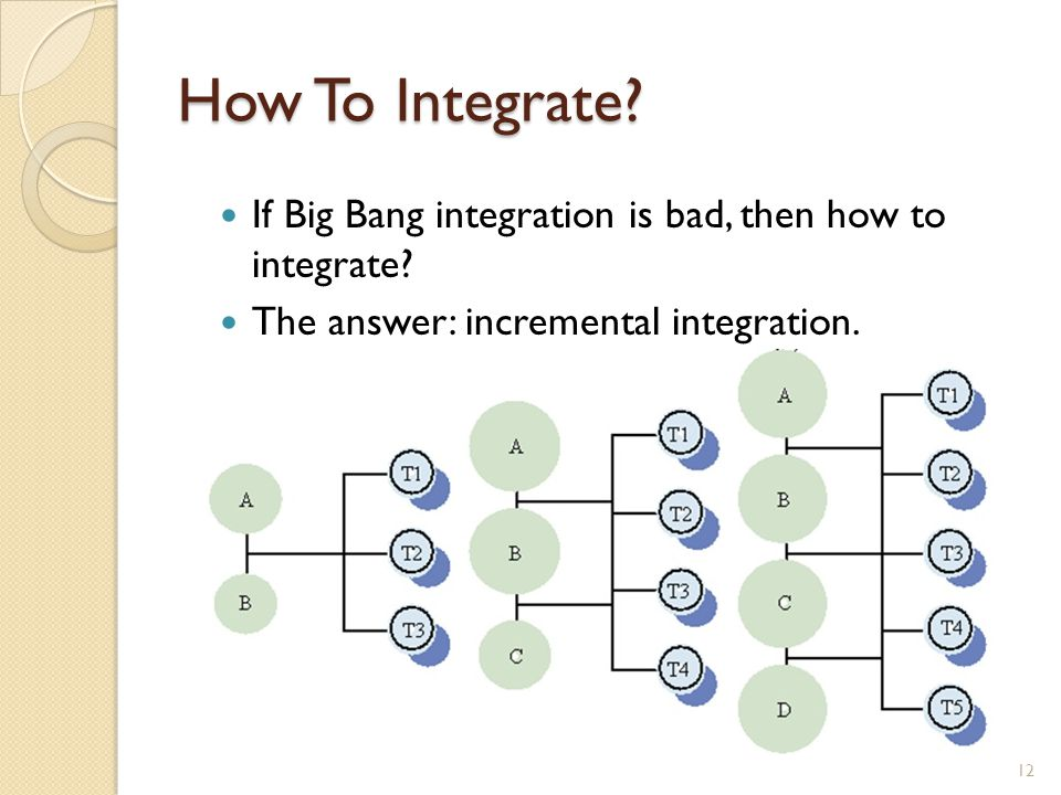 How To Integrate. If Big Bang integration is bad, then how to integrate.
