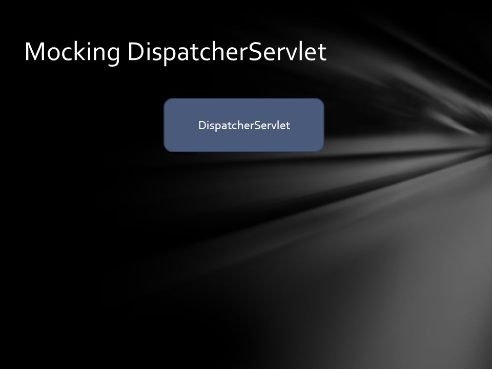 Mocking DispatcherServlet DispatcherServlet