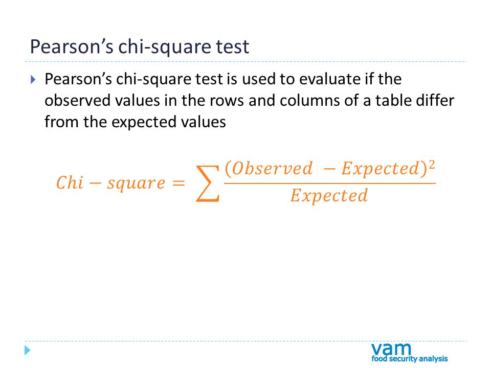 Pearsons chi-square test