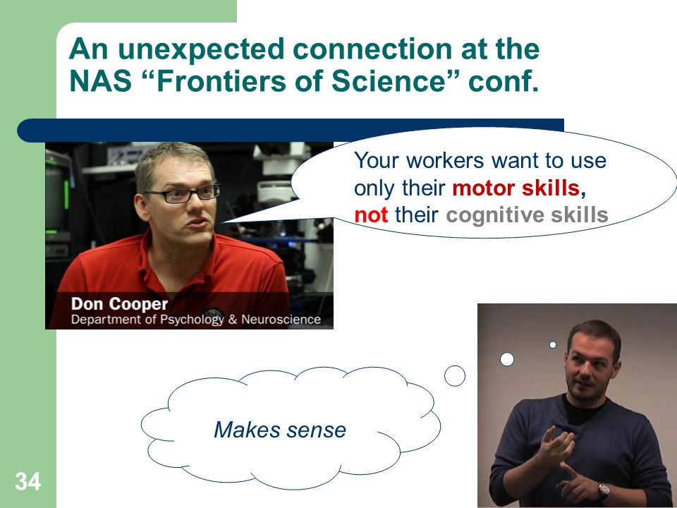 An unexpected connection at the NAS Frontiers of Science conf.
