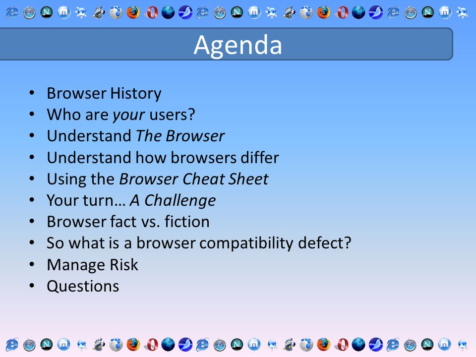 The Browser Cheat Sheet