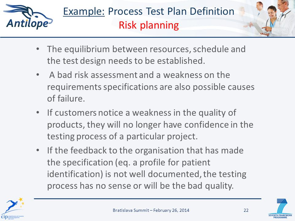 The equilibrium between resources, schedule and the test design needs to be established. A bad risk assessment and a weakness on the requirements spec