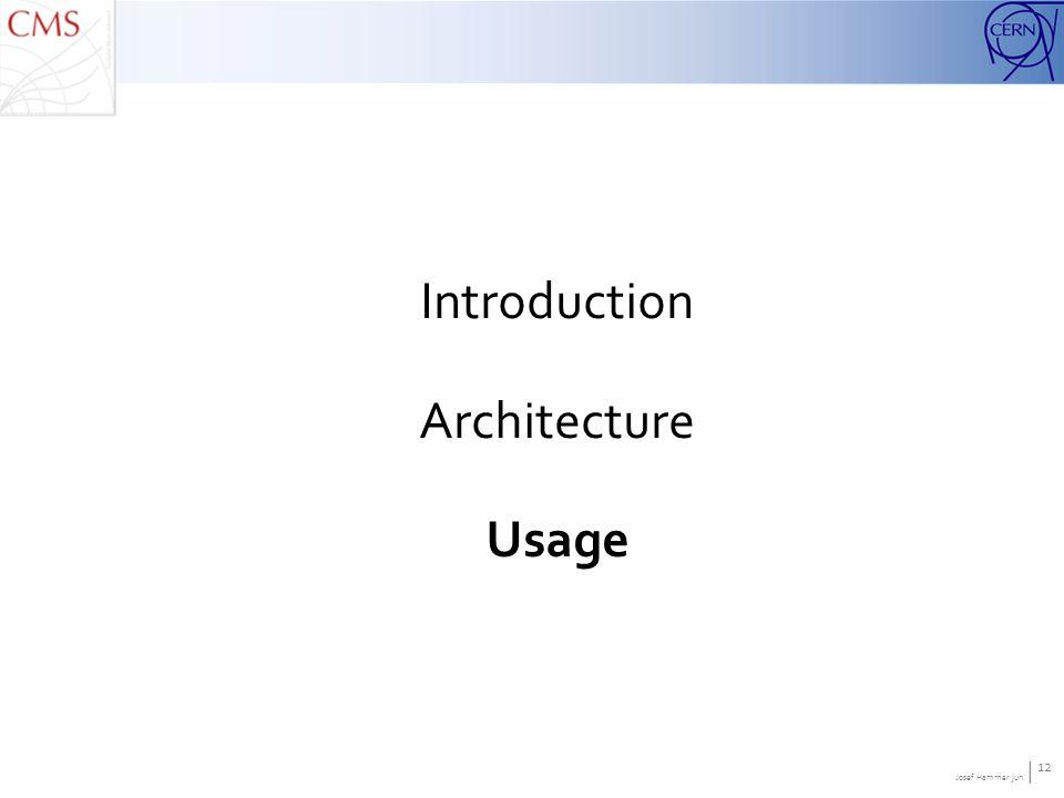 Josef Hammer jun. | 12 Introduction Architecture Usage