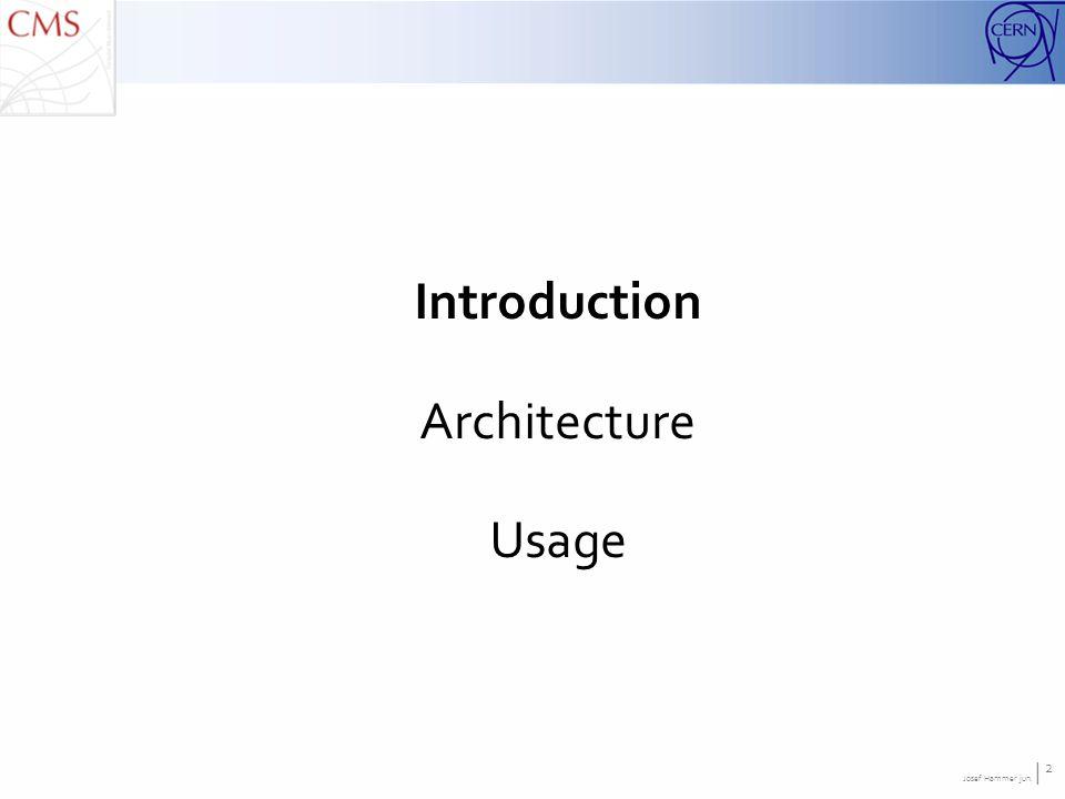 Josef Hammer jun. | 2 Introduction Architecture Usage