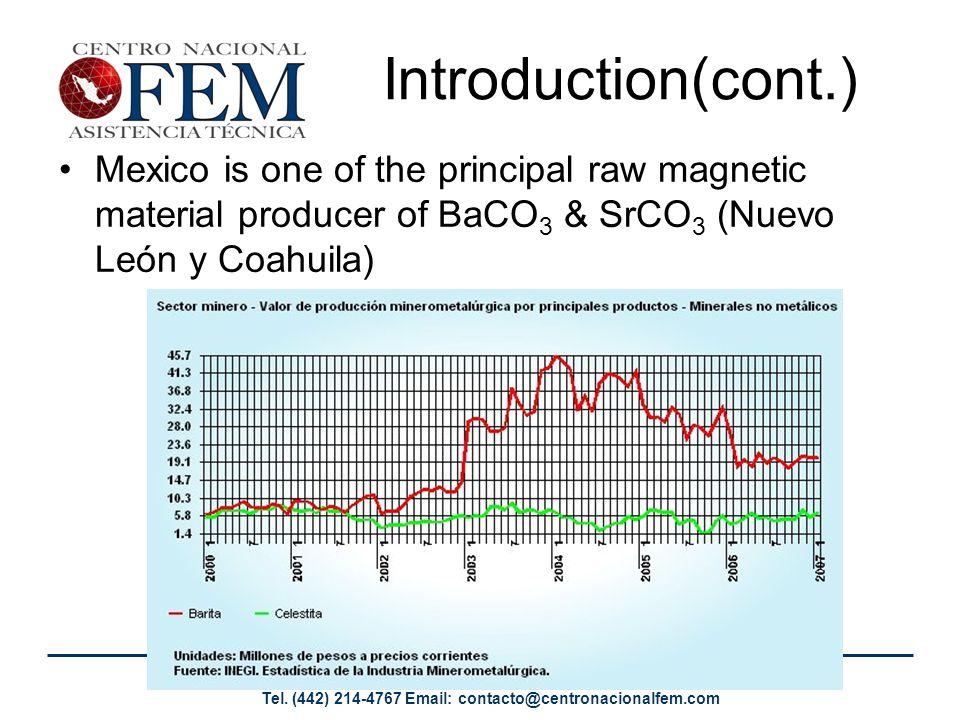 Av. Del Retablo No. 118-B Col. La Era Querétaro, Qro. C.P. 76150 Tel. (442) 214-4767 Email: contacto@centronacionalfem.com Introduction(cont.) Mexico