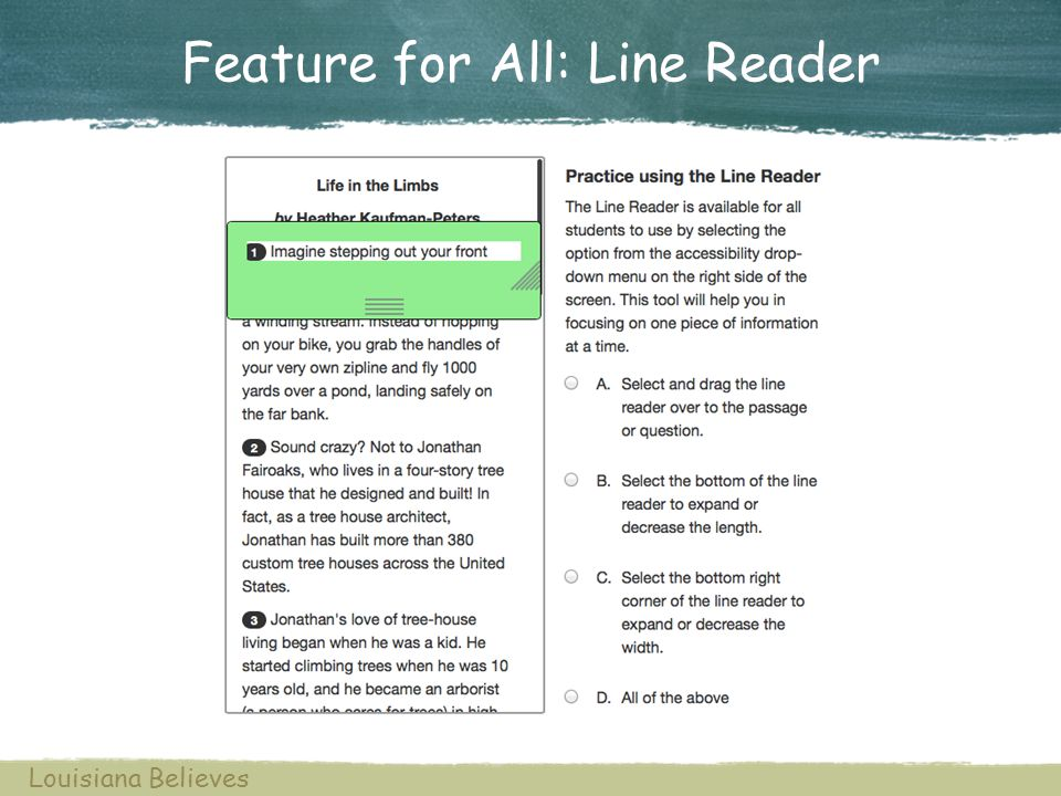 Feature for All: Line Reader Louisiana Believes