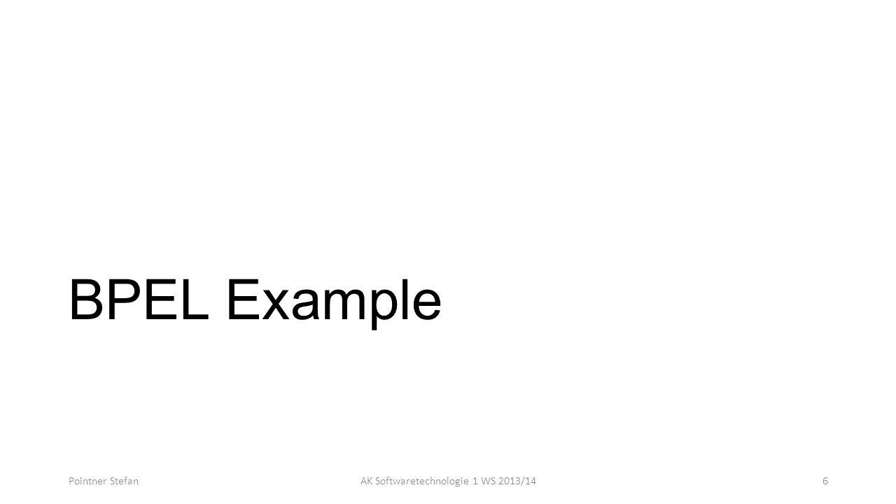 BPEL Example Pointner StefanAK Softwaretechnologie 1 WS 2013/146