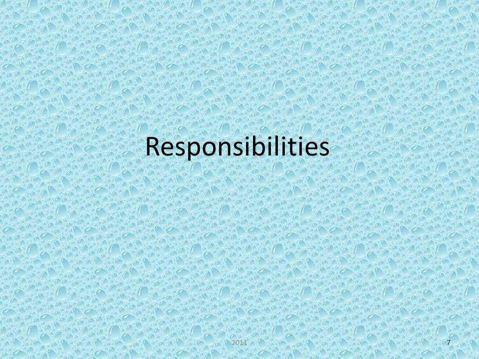 Responsibilities 20117