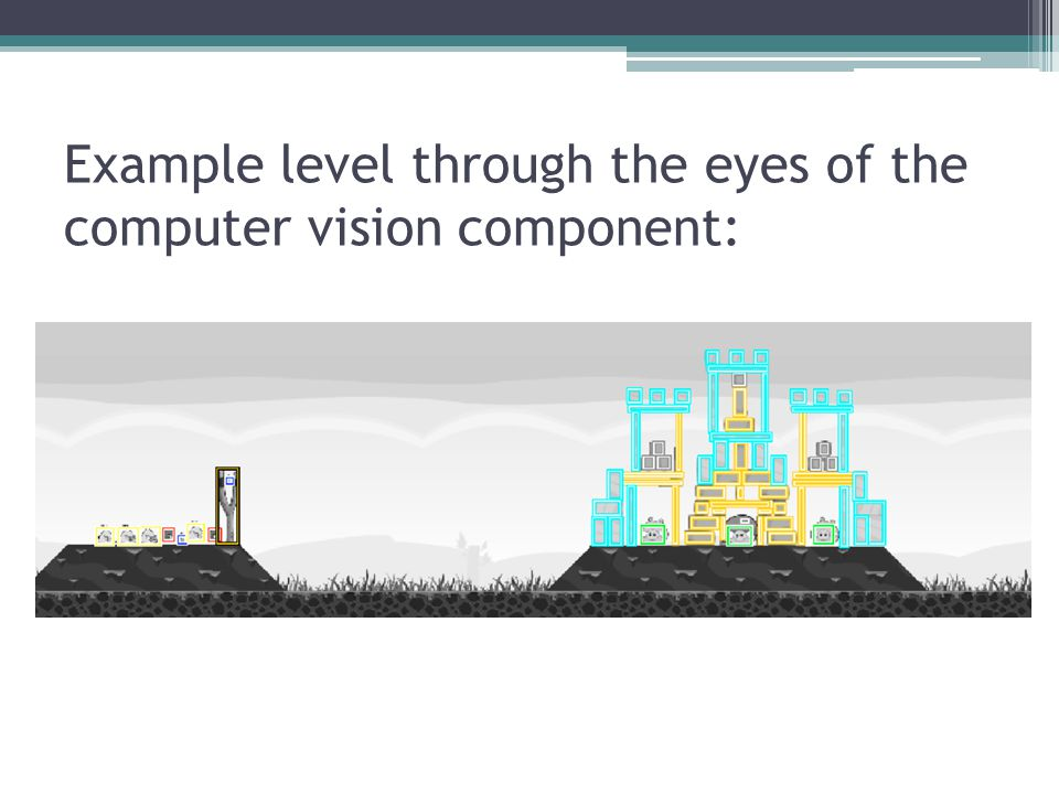 Example level through the eyes of the computer vision component: