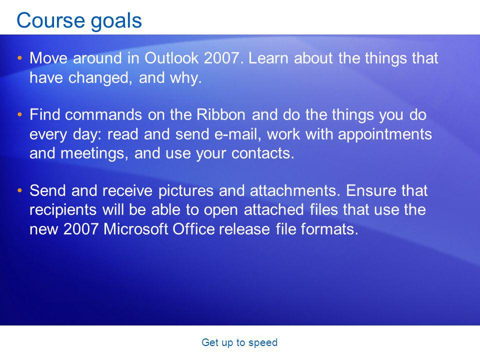 Get up to speed A new look for contacts In Outlook 2007, Electronic Business Cards make contacts easy to view and easy to share.