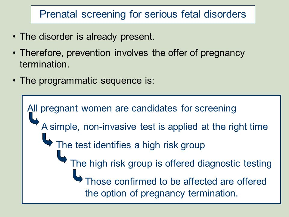 BROWN Women & Infants Current Issues in Prenatal Screening for NTDs and Downs Syndrome: Equity, safety, and accessibility NTD screening: shift from maternal serum AFP at 15-18 weeks to the fetal anomaly U/S scan at 18-22 weeks MSAFP test performance is well characterized anomaly scan test performance is believed to be very good, but is not well characterized later decision making and termination of pregnancy availability of an U/S scan vs availability of a lab test Cost of an U/S scan vs cost of a lab test for AFP