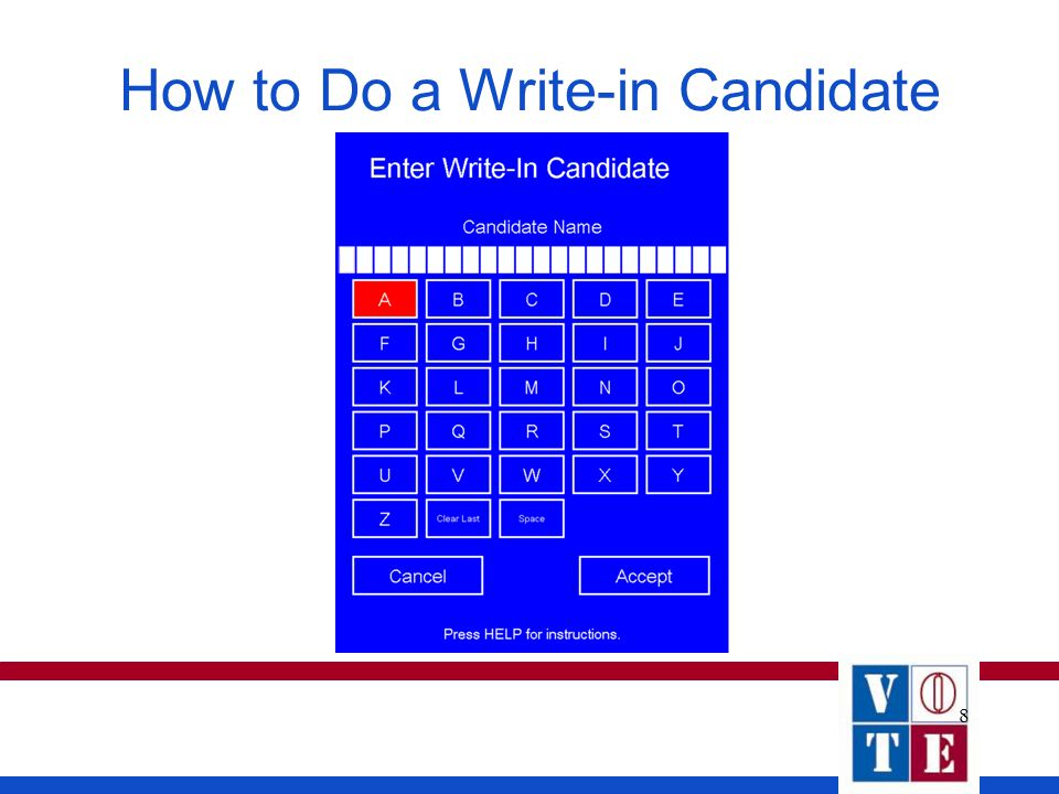8 How to Do a Write-in Candidate