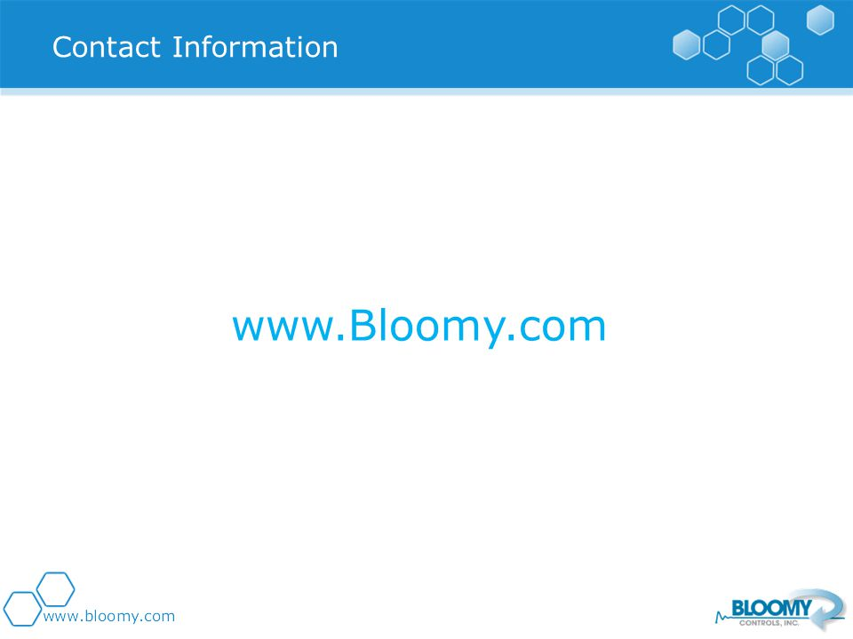 Contact Information www.Bloomy.com