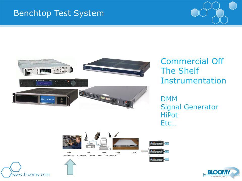 Commercial Off The Shelf Instrumentation DMM Signal Generator HiPot Etc… Benchtop Test System
