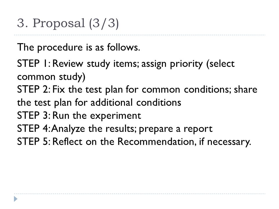 3.Proposal (3/3) The procedure is as follows.