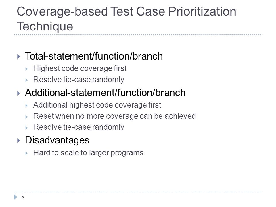 Select the test case which has longest distance with its nearest neighbor and execute it.
