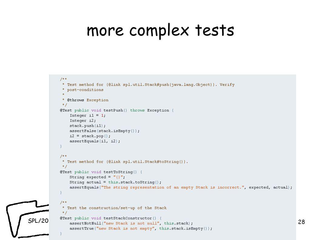 SPL/2010 more complex tests 28