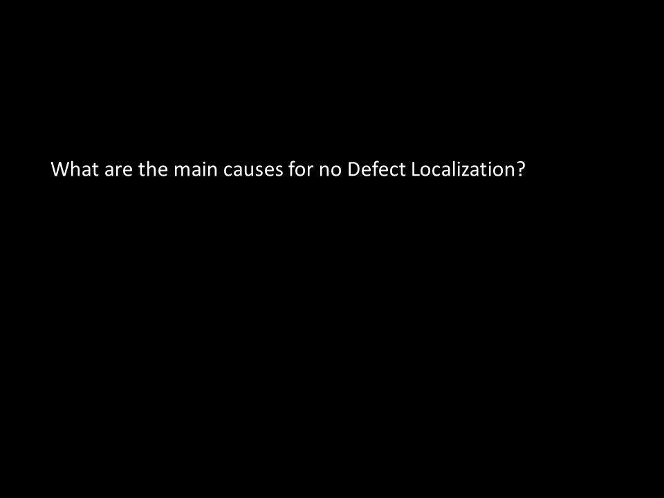 What are the main causes for no Defect Localization?