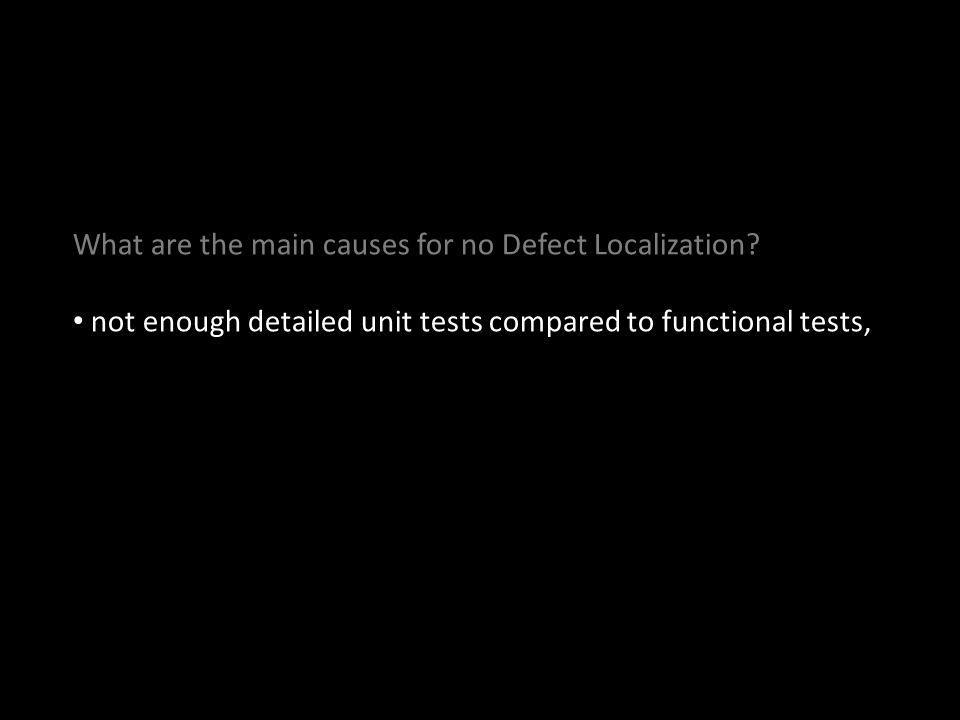 not enough detailed unit tests compared to functional tests,