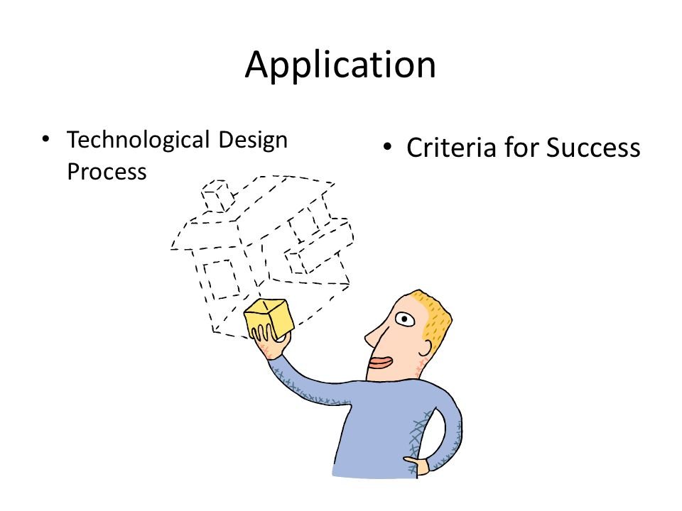 Application Technological Design Process Criteria for Success