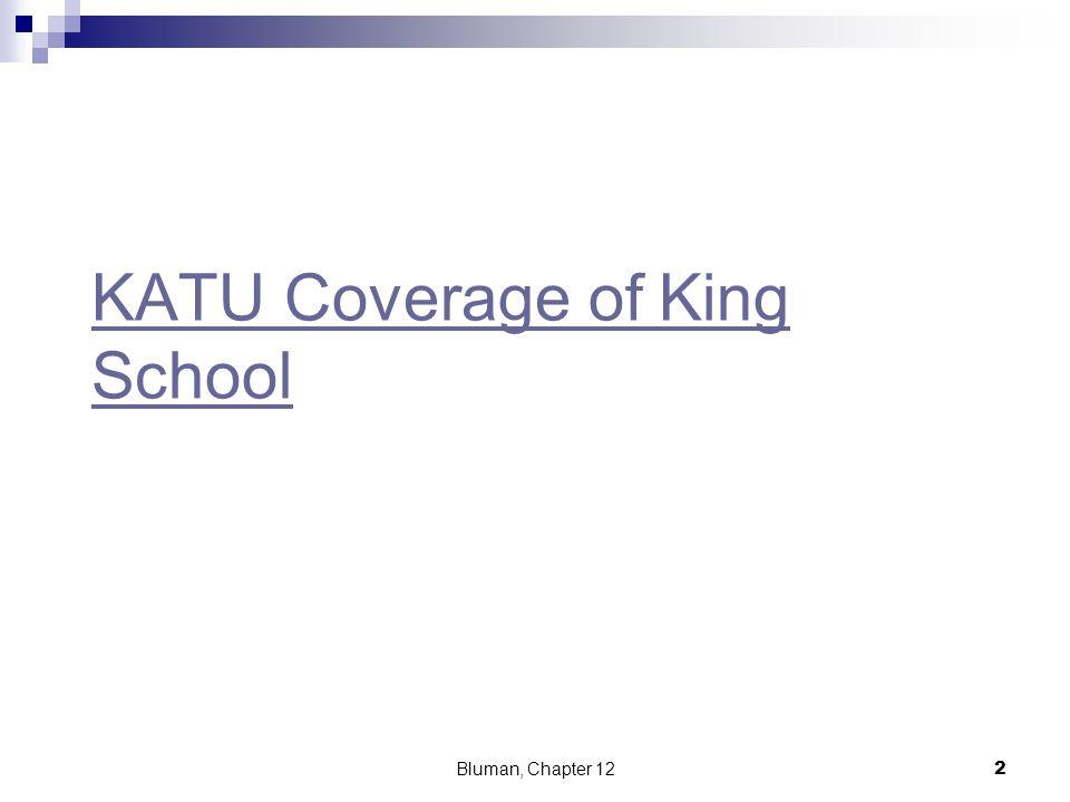 KATU Coverage of King School Bluman, Chapter 122