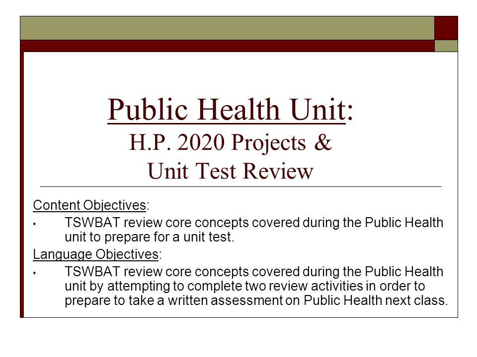 Public Health Unit: H.P.