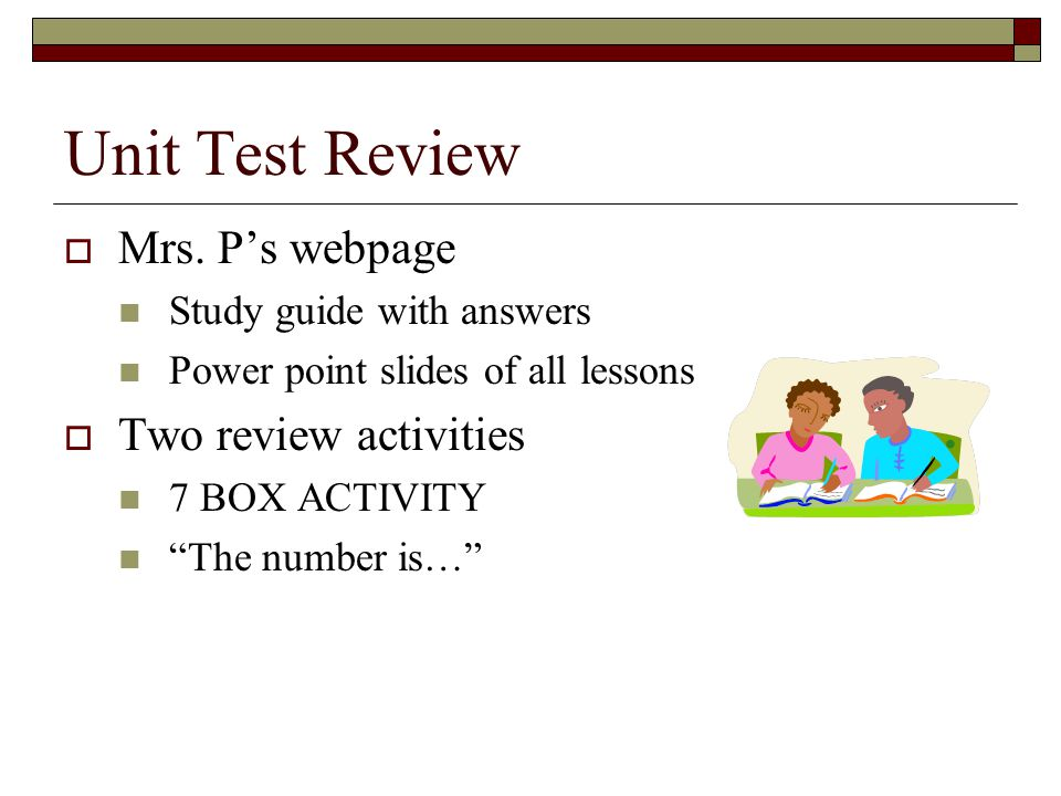Unit Test Review Mrs.