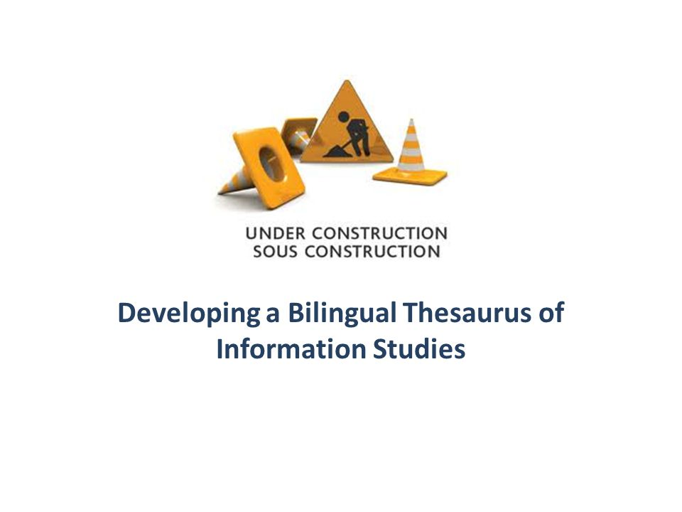 Developing a Bilingual Thesaurus of Information Studies