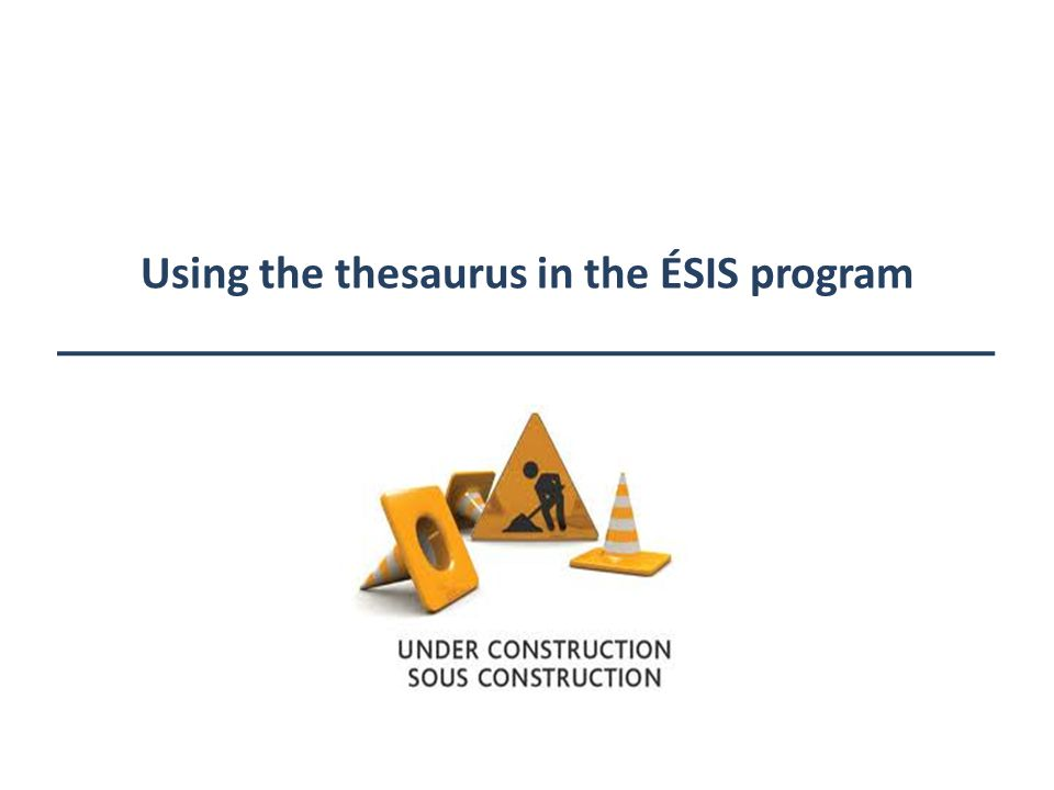 Using the thesaurus in the ÉSIS program