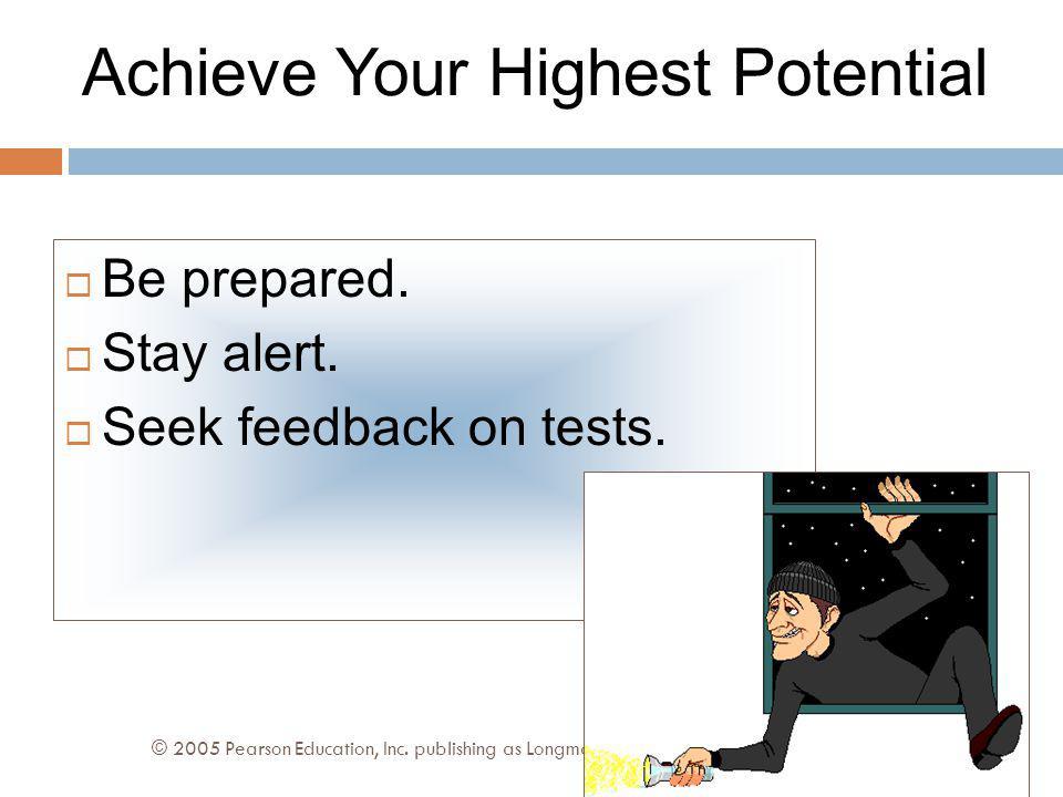 Taking Standardized Tests © 2005 Pearson Education, Inc.