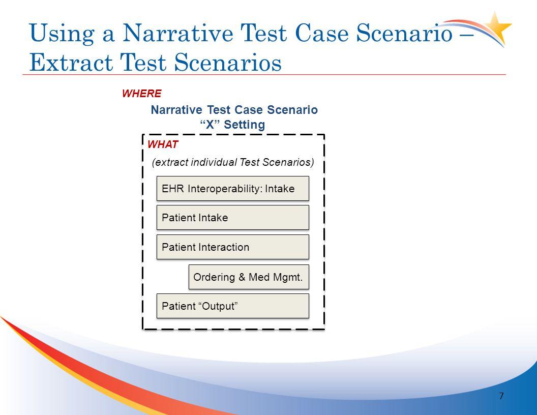 Proposed Test Scenario Development Workplan 18
