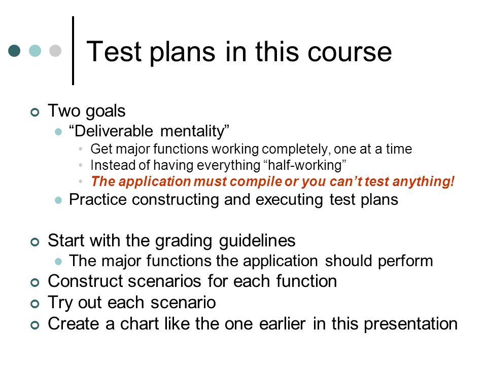 Create your own test plan Create a test plan for the Movie application Think about the use cases How would you test each one?