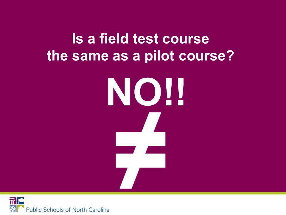 Field Test vs.
