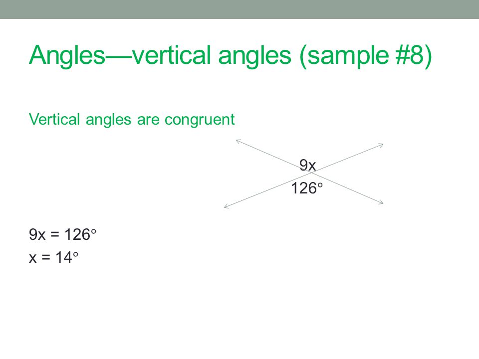 Anglesvertical angles (sample #8)