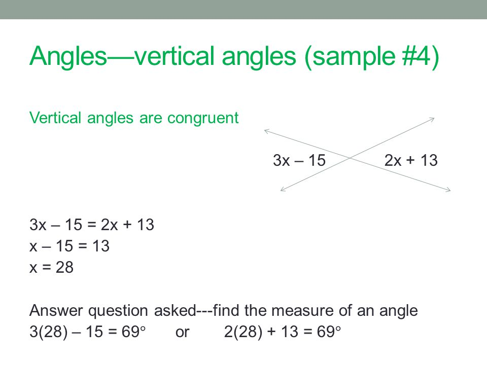 Anglesvertical angles (sample #4)