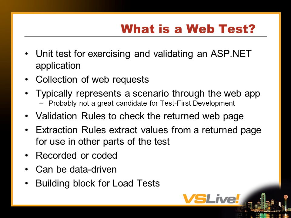 What is a Web Test.