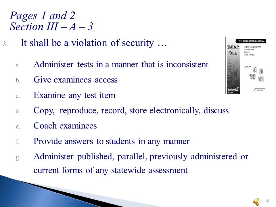 3.Which of these is NOT considered secure test material? A. student answer document B.student test booklet C.student math reference sheet D. student l