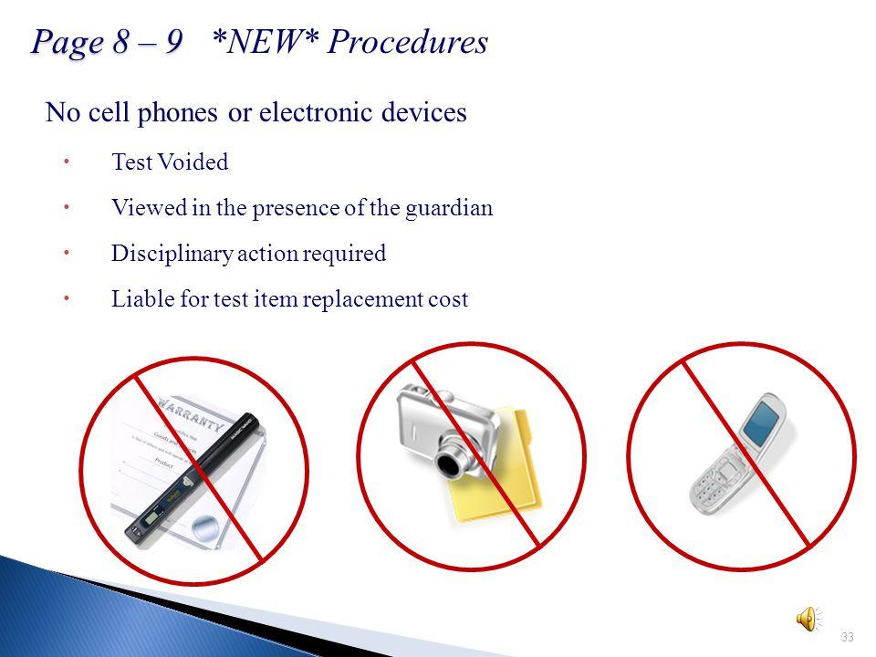 IX. Report Emergencies A. Fire Alarms… B. Online Testing Emergency Plan 32