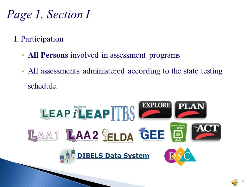 5 Louisiana Educational Assessment Program February 3 – March 14, 2014