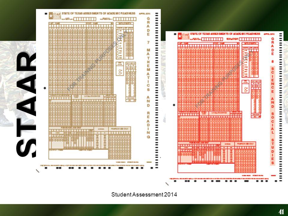 STAAR 41 Student Assessment 2014