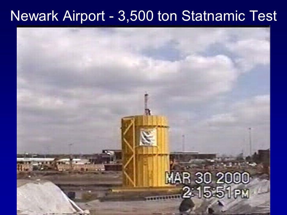 Newark Airport - 3,500 ton Statnamic Test