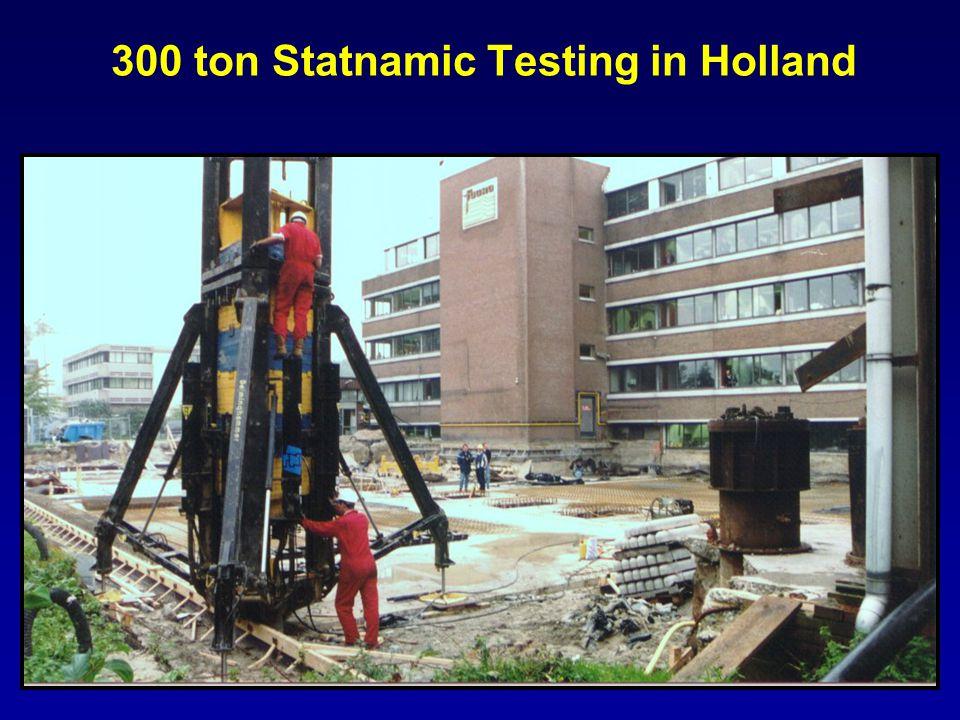 300 ton Statnamic Testing in Holland