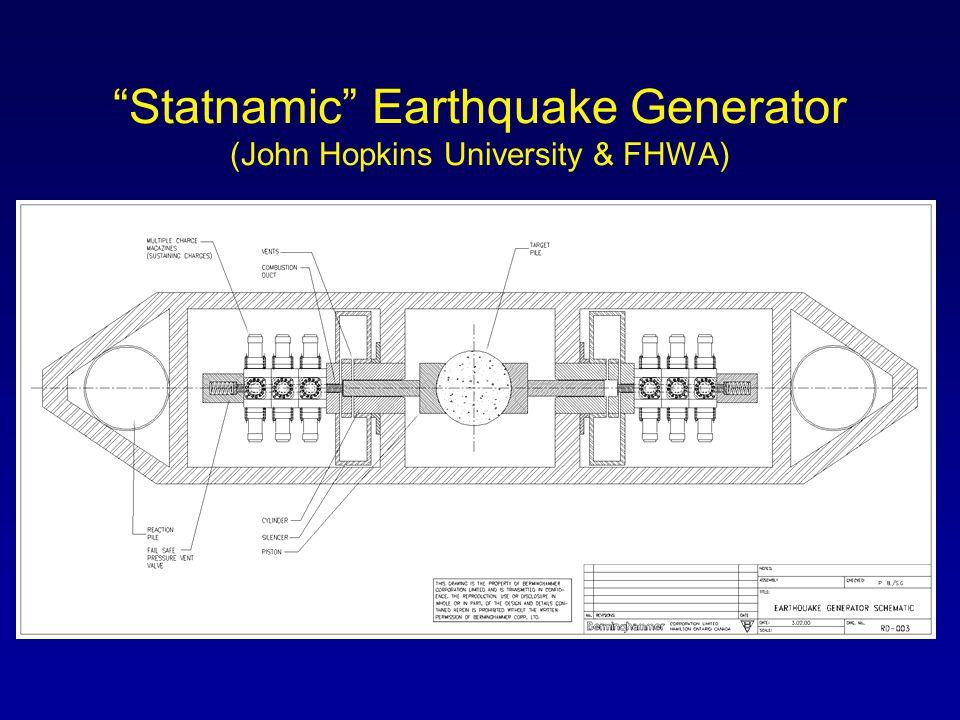 Statnamic Earthquake Generator (John Hopkins University & FHWA)