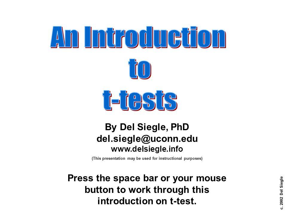 c. 2002 Del Siegle By Del Siegle, PhD del.siegle@uconn.edu www.delsiegle.info (This presentation may be used for instructional purposes) Press the spa