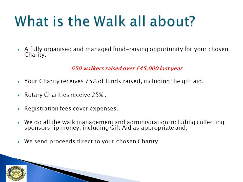 A fully organised and managed fund-raising opportunity for your chosen Charity.