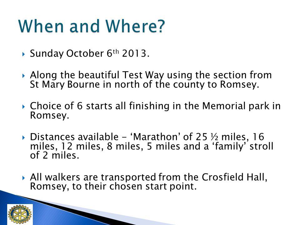 Sunday October 6 th 2013.
